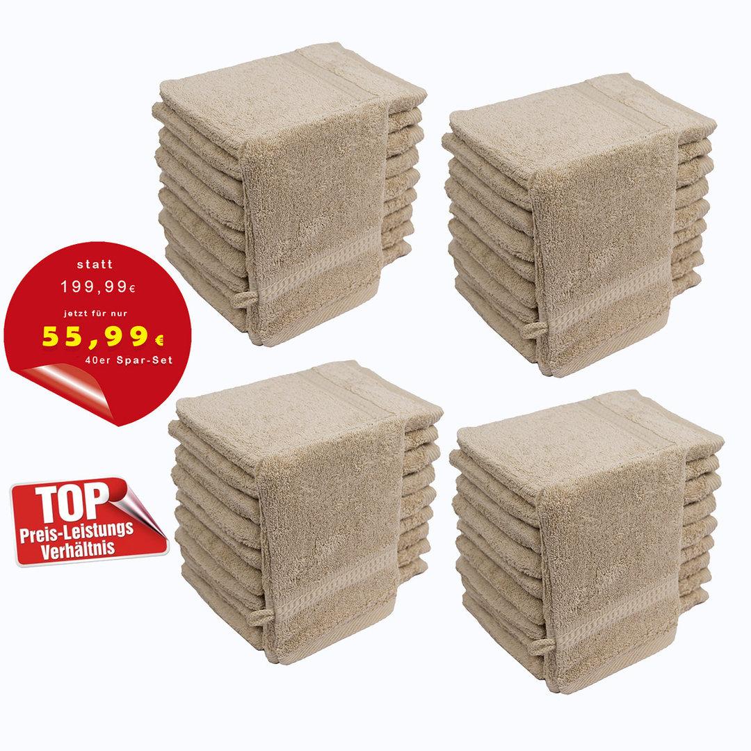 StickandShine 4er Set Premium Frottee Waschhandschuh 15x21 cm in Peach in 500g//m/² aus 100/% Baumwolle /Öko-TEX Standard 100 Materialien