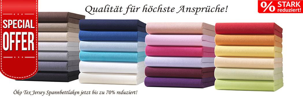 MENGENRABATT ab 2,99€ PREMIUM Jersey Spannbettlaken unglaublich günstig! NEU ANGEBOT DES MONATS!